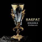 فروش گلدان لوکس با رنگ کاری طلا هارپات