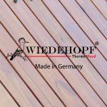 نمای چوب Thermowood و پانل HPL