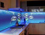 رادیاتور شیشه ای شیشه بین کابینت تصویری