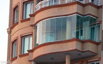 بالکن شیشه ای گلد ترکیه - آریان جام-pic1