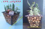 گلدان چوبی مربعی