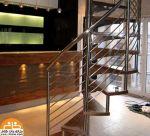 پله گرد استیل